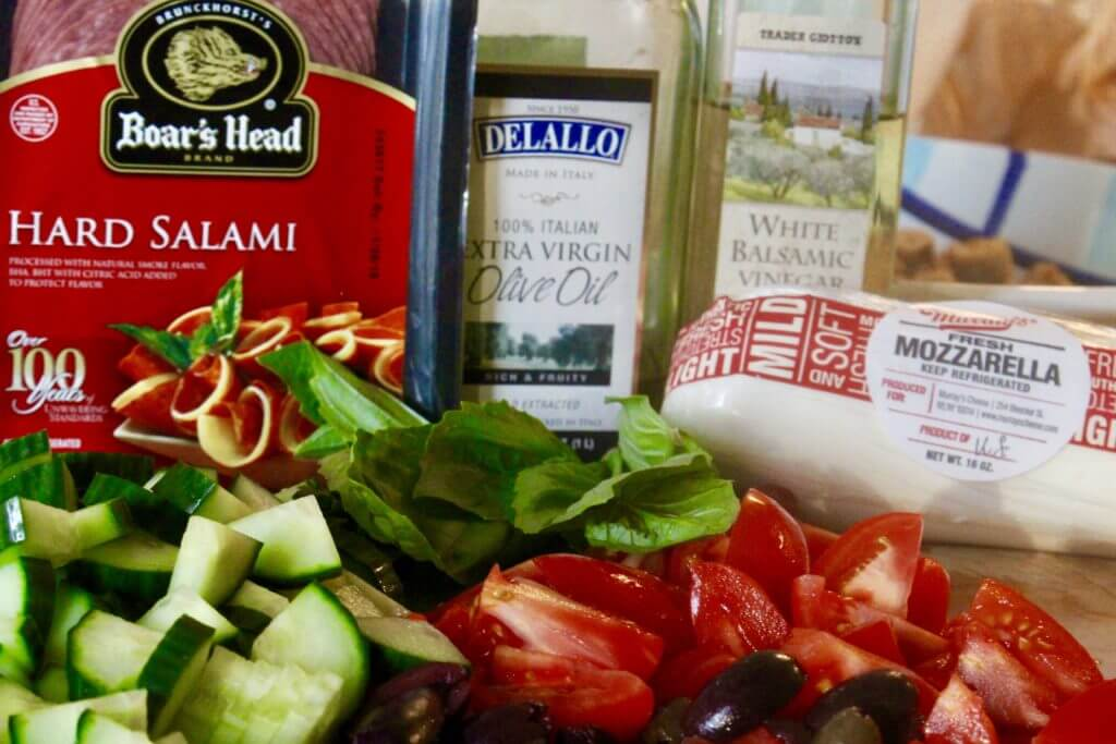 BEST OF ALL SALAD WORLDS! ANTIPASTO PANZANELLA SALAD AND BEING AT THE CROSSROADS