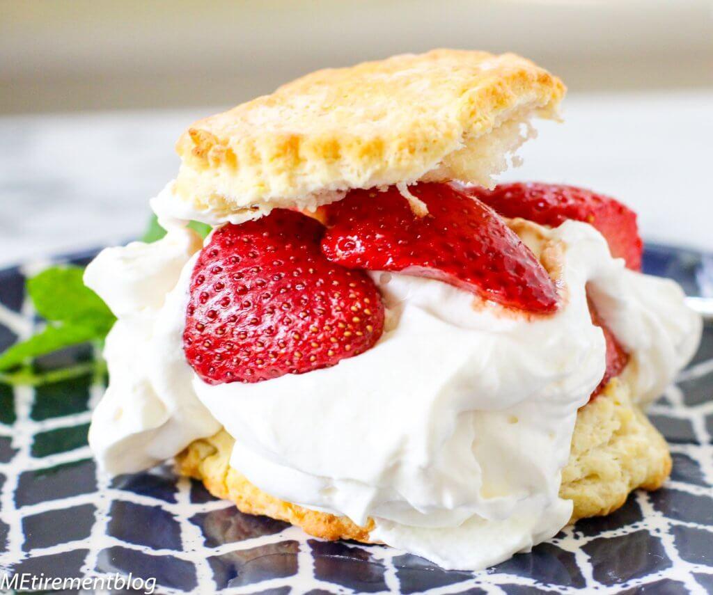 Lemon Buttermilk Shortcakes with Roasted Balsamic Strawberries