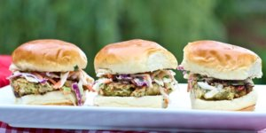 Shrimp Burgers with Asian Slaw