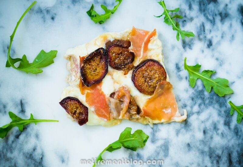 Whipped Ricotta and Goat Cheese Pizza with Honey Balsamic Roasted Figs