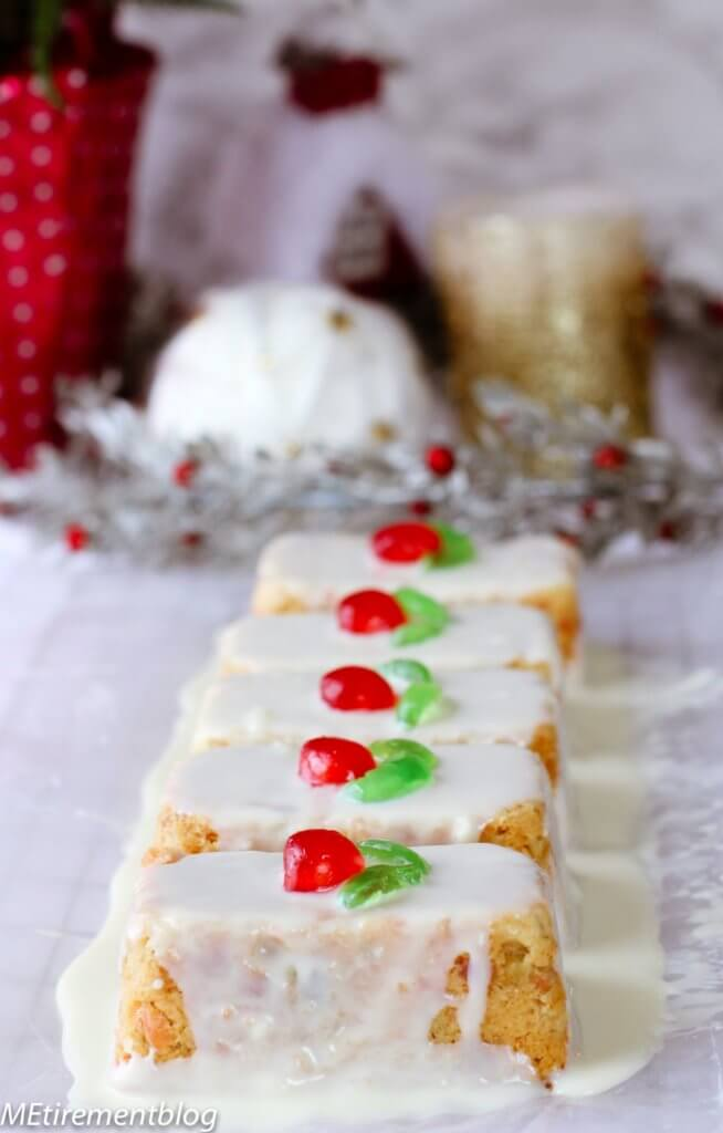 White Chocolate Cream Cheese Orange Fruitcakes